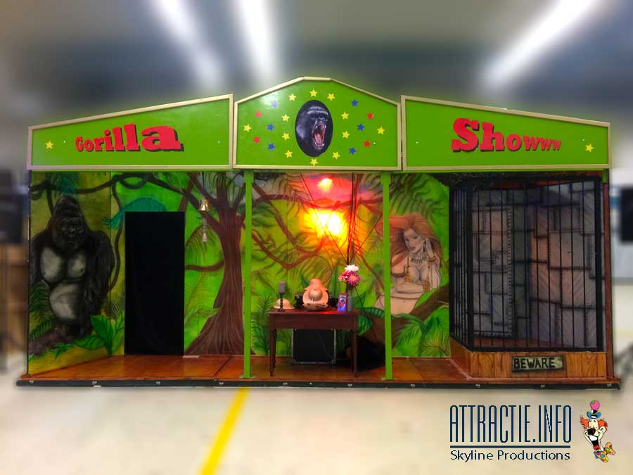 De gorilla Show Nostalgische kermis vermaak