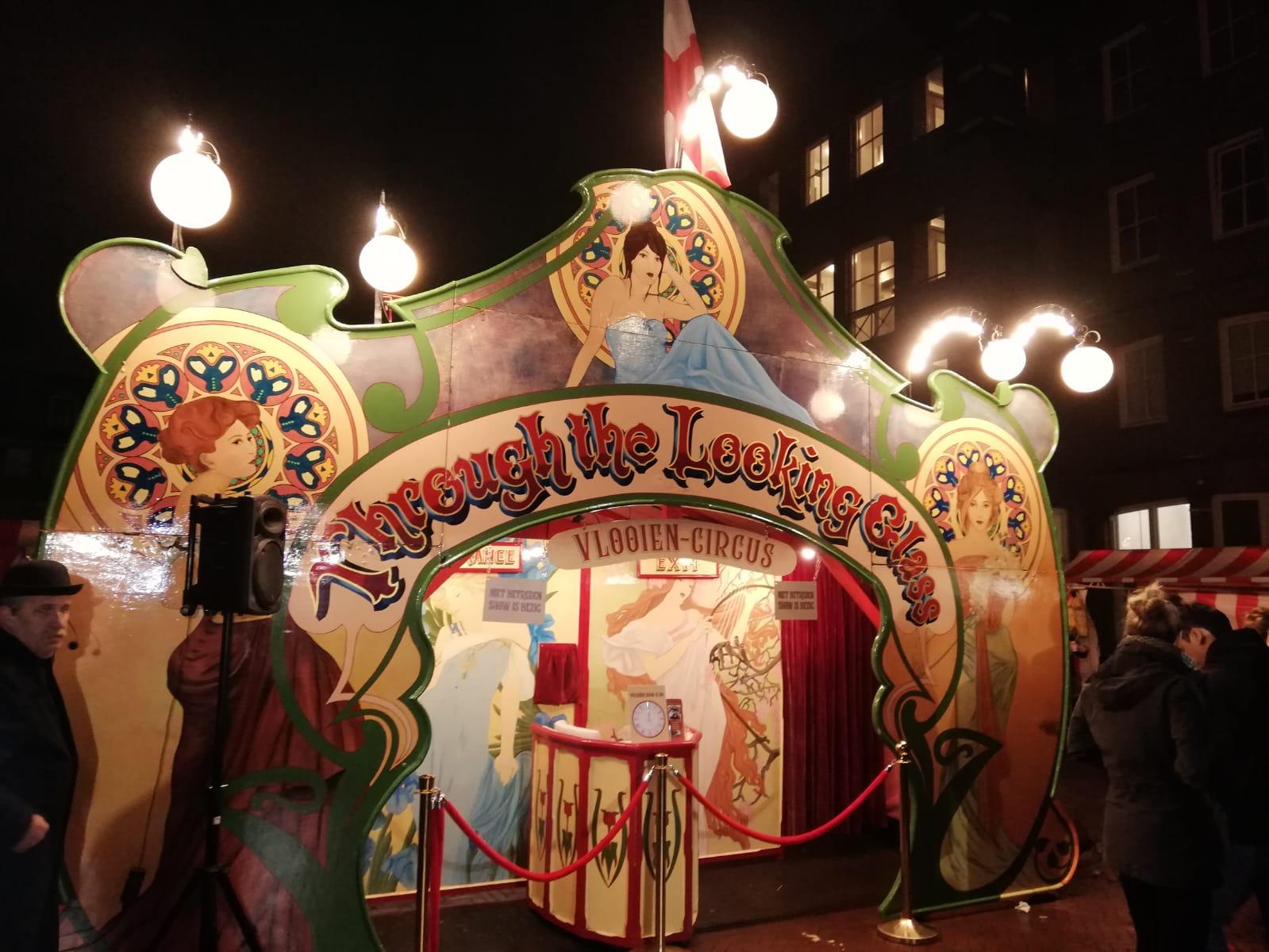 nostalgisch vlooien circus theater uit 1922